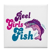 Reel Girls Fish Tile Coaster