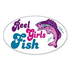 Reel Girls Fish Oval Decal
