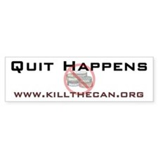 """Quit Happens"" Bumper Bumper Sticker"