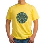 Blue Pattern 001 Yellow T-Shirt