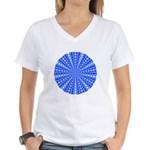 Blue Pattern 001 Women's V-Neck T-Shirt