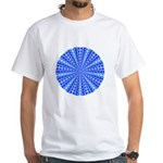 Blue Pattern 001 White T-Shirt