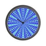 Blue Pattern 001 Wall Clock