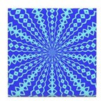 Blue Pattern 001 Tile Coaster