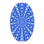 Blue Pattern 001 Oval Sticker