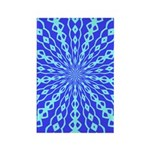 Blue Pattern 001 Rectangle Magnet (100 pack)