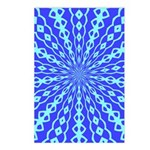 Blue Pattern 001 Postcards (Package of 8)