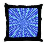 Blue Pattern 001 Throw Pillow