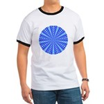 Blue Pattern 001 Ringer T