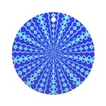 Blue Pattern 001 Ornament (Round)