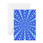 Blue Pattern 001 Greeting Card