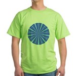 Blue Pattern 001 Green T-Shirt