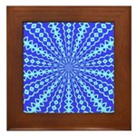 Blue Pattern 001 Framed Tile