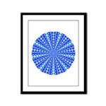 Blue Pattern 001 Framed Panel Print