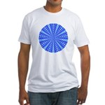 Blue Pattern 001 Fitted T-Shirt