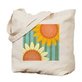 Sunflower Stripe Tote Bag