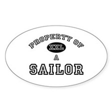 Property of a Sailor Oval Decal