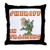 Sheriff In Training Throw Pillow