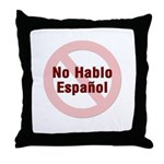 No Hablo Espanol - Red Circle Throw Pillow