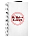 No Hablo Espanol - Red Circle Journal