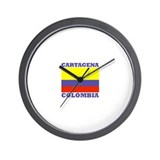 Cartagena, Colombia Wall Clock