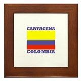 Cartagena, Colombia Framed Tile
