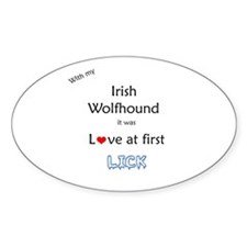 Wolfhound Lick Oval Decal