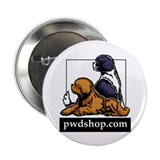 "Cute Portuguese water dog 2.25"" Button (10 pack)"
