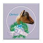Oberhasli Goat Buck Tile Coaster