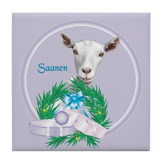 Saanen Goat Tile Coaster