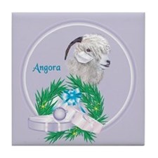 Angora Goat -Angel Tile Coaster