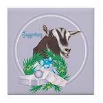 Toggenburg Goat Tawny Tile Coaster
