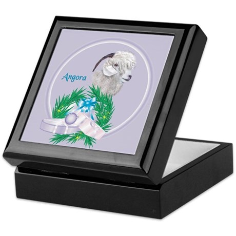 Angora Goat -Angel Keepsake Box