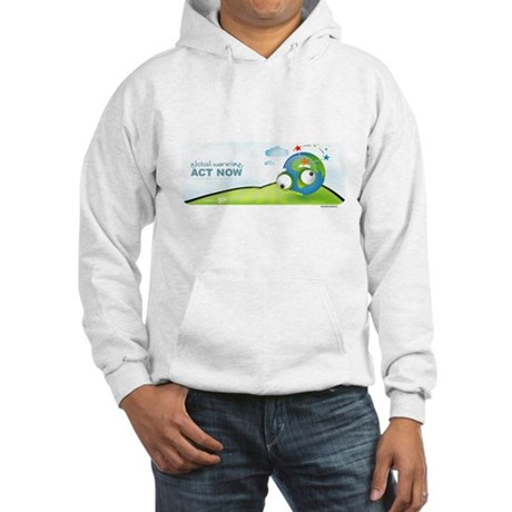Recycle Wide Hooded Sweatshirt