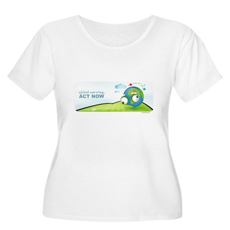 Recycle Wide Women's Plus Size Scoop Neck T-Shirt