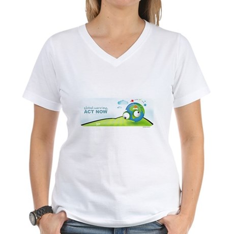Recycle Wide Women's V-Neck T-Shirt