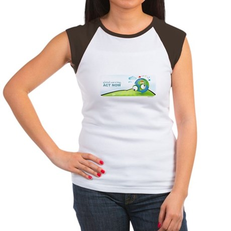 Recycle Wide Women's Cap Sleeve T-Shirt