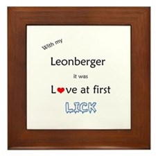 Leonberger Lick Framed Tile
