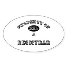 Property of a Registrar Oval Decal