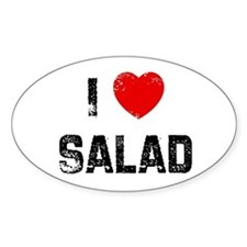 I * Salad Oval Decal