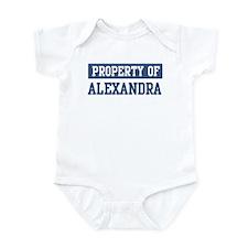 Property of ALEXANDRA Infant Bodysuit