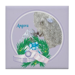 Angora Goat Mishka Tile Coaster