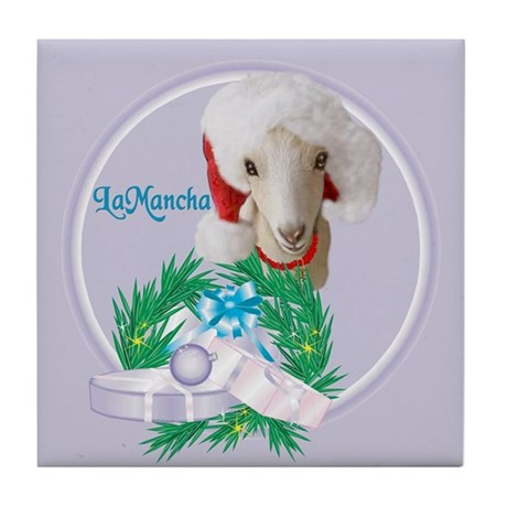 LaMancha Goat Natty Tile Coaster