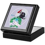 Pygmy Goat Santa Keepsake Box