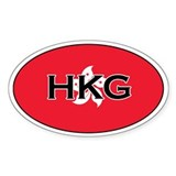 Hong Kong flag Oval Decal