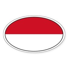 Indonesian flag Oval Decal