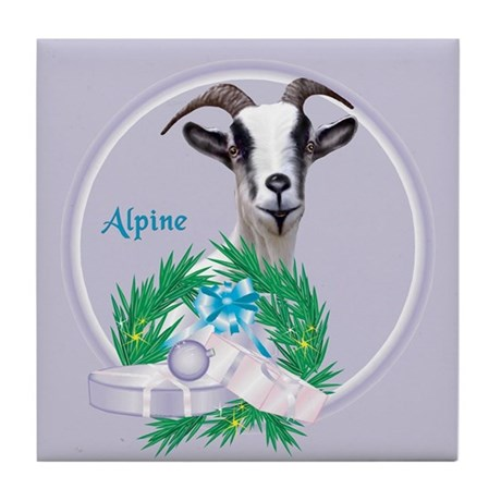 Alpine Goat Bubba Tile Coaster