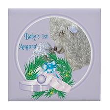 Angora Goat Baby's First Tile Coaster