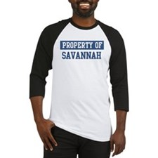 Property of SAVANNAH Baseball Jersey