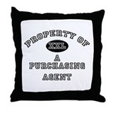 Property of a Purchasing Agent Throw Pillow